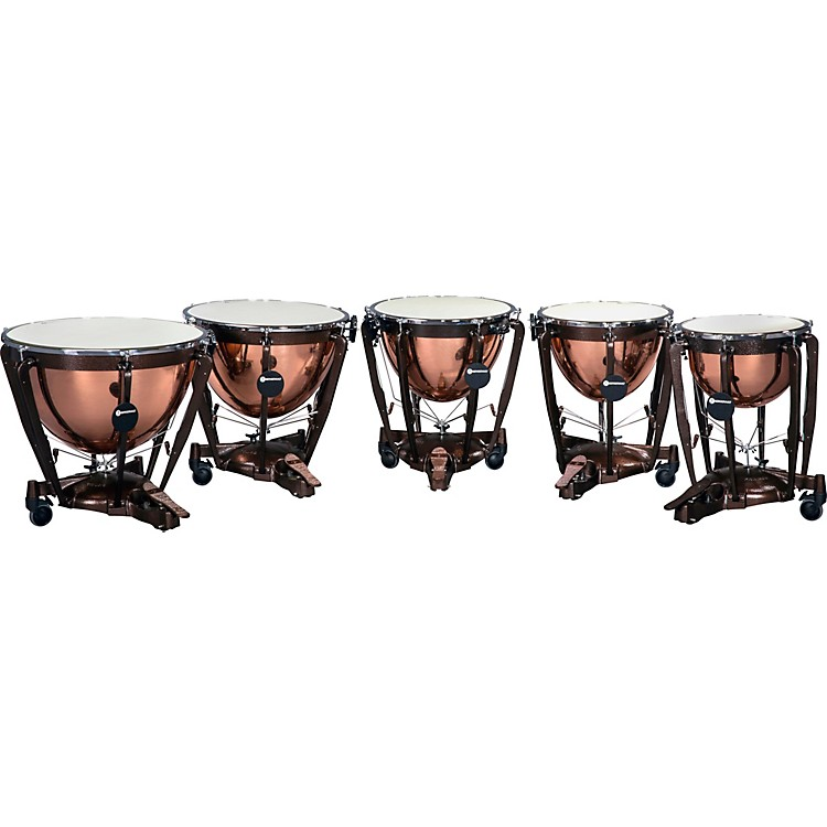 Bergerault Grand Professional Series Timpani Set with Parabolic Smooth Copper Bowls 20, 23, 26, 29, 32 in.