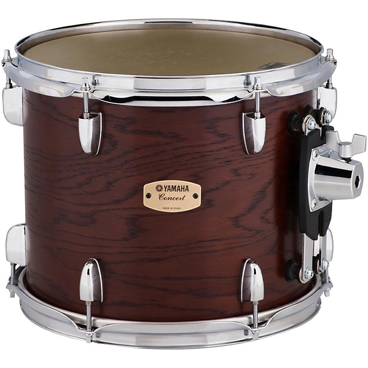 Yamaha Grand Series Double Headed Concert Tom 13 x 10.5 in. Darkwood Stain Finish