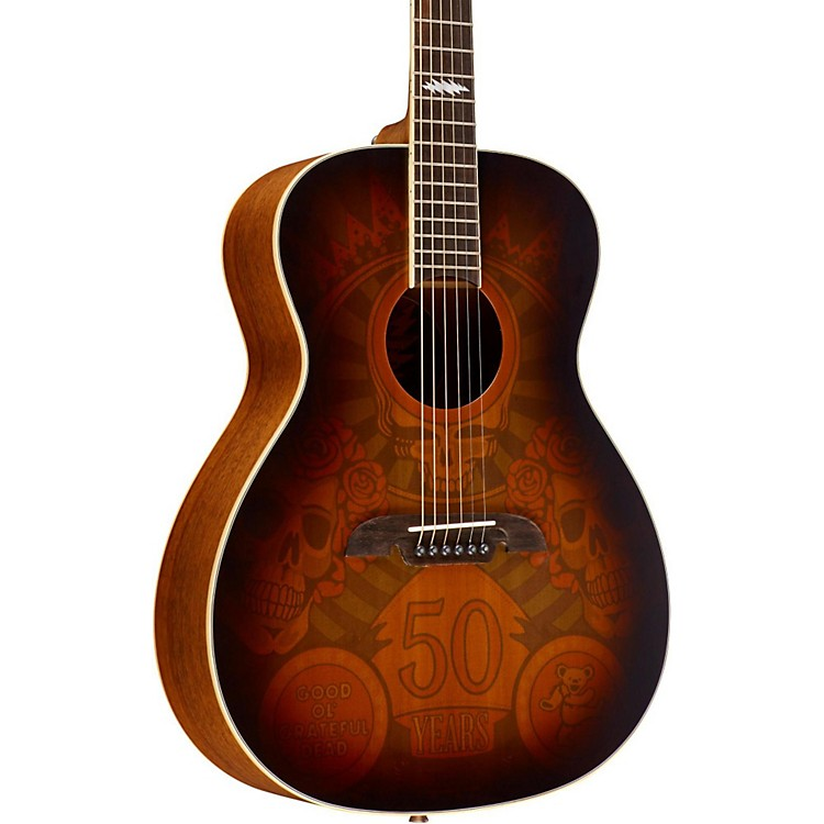 AlvarezGrateful Dead 50th Anniversary Acoustic GuitarFlag