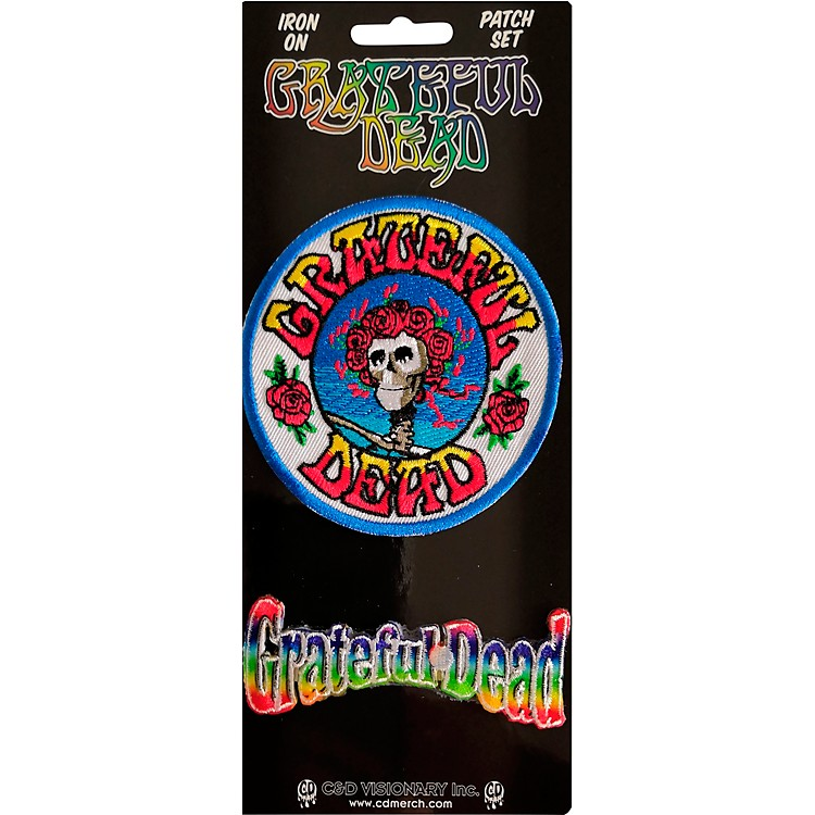 C&D Visionary Grateful Dead Skull Roses Patch set