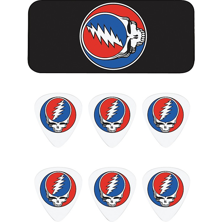 Dunlop Grateful Dead Steal Your Face Black Pick Tin with 6 Picks
