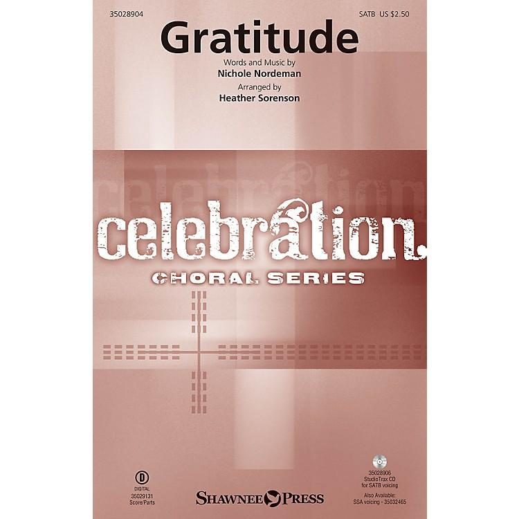 Shawnee PressGratitude SATB arranged by Heather Sorenson
