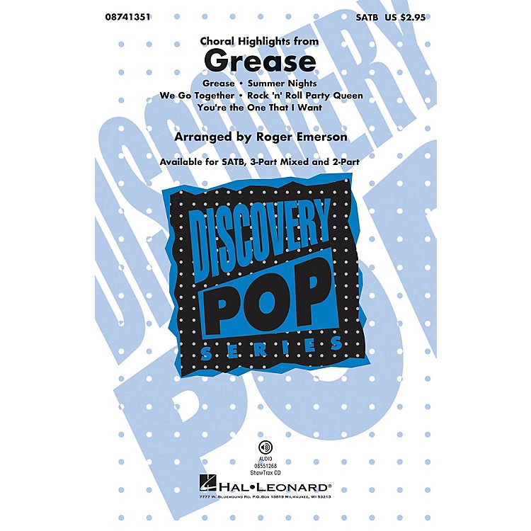 Hal LeonardGrease (Choral Highlights) ShowTrax CD Arranged by Roger Emerson