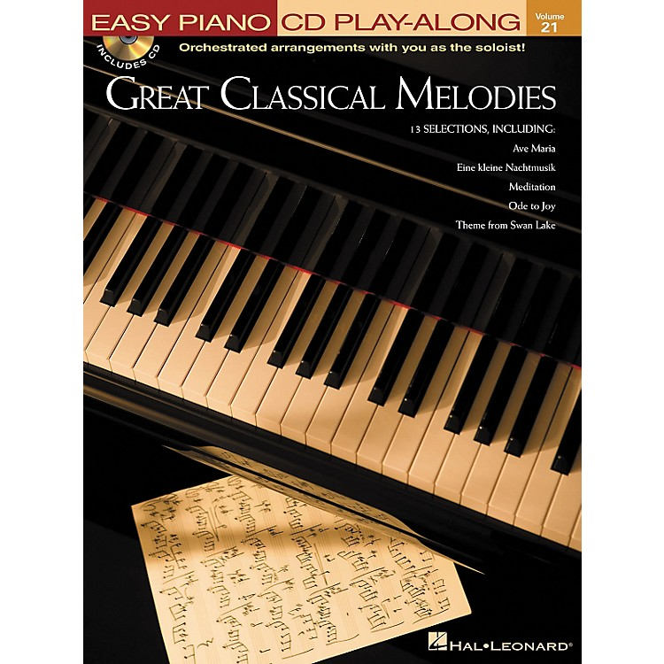 Hal LeonardGreat Classical Melodies - Easy Piano CD Play-Along Volume 21 Book/CD