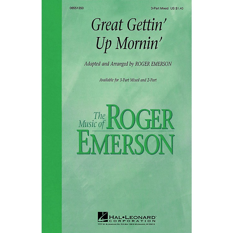 Hal LeonardGreat Gettin' Up Mornin' 3-Part Mixed arranged by Roger Emerson