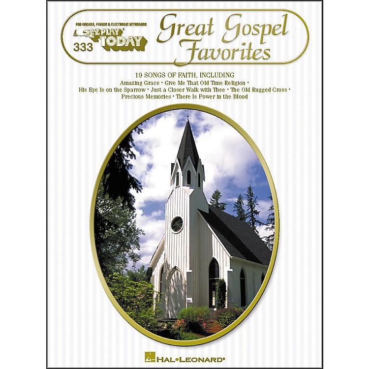 Hal LeonardGreat Gospel Favorites E-Z Play 333