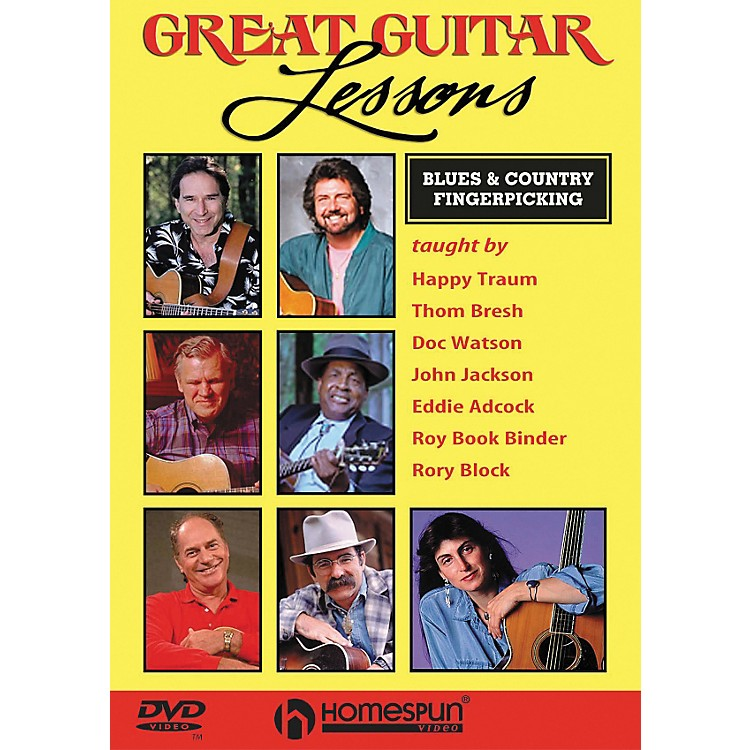 HomespunGreat Guitar Lessons - Blues & Country Fingerpicking (DVD)