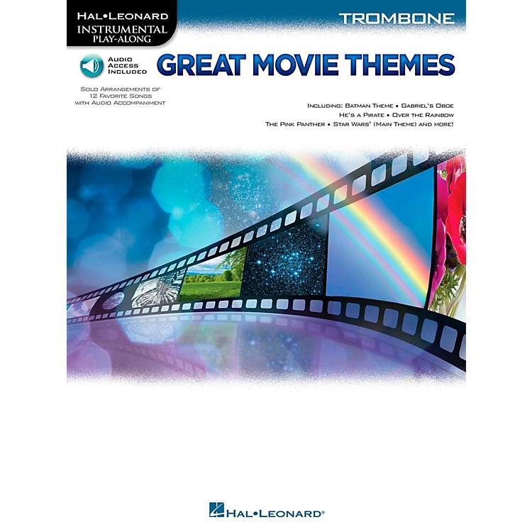 Hal Leonard Great Movie Themes For Trombone - Instrumental Play-Along (Book/Online Audio)