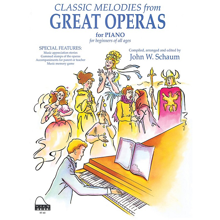 SCHAUM Great Operas Educational Piano Series Softcover