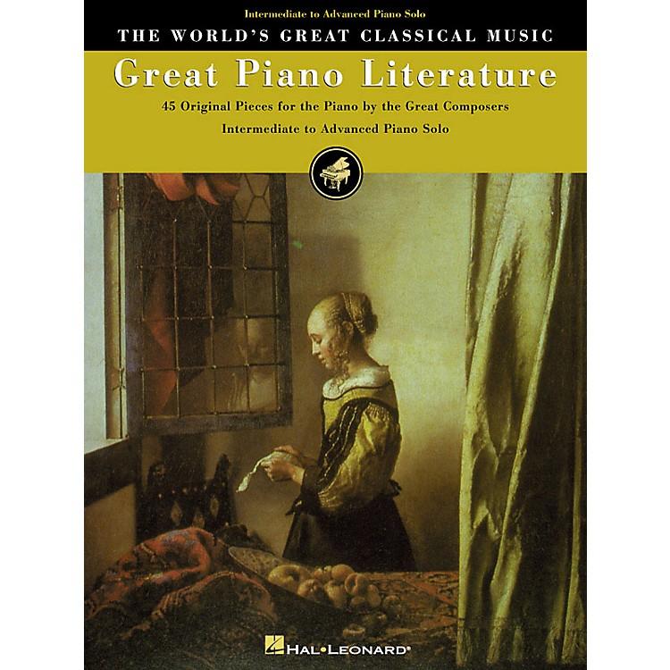 Hal LeonardGreat Piano Literature World's Greatest Classical Music Series (Intermediate)