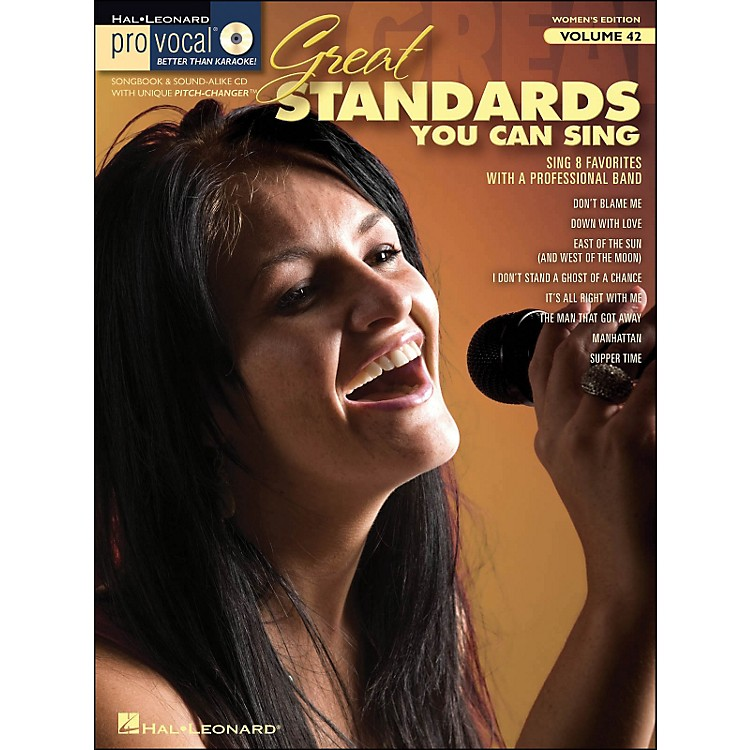 Hal Leonard Great Standards You Can Sing - Pro Vocal Series Vol. 42 for Female Singers Book/CD