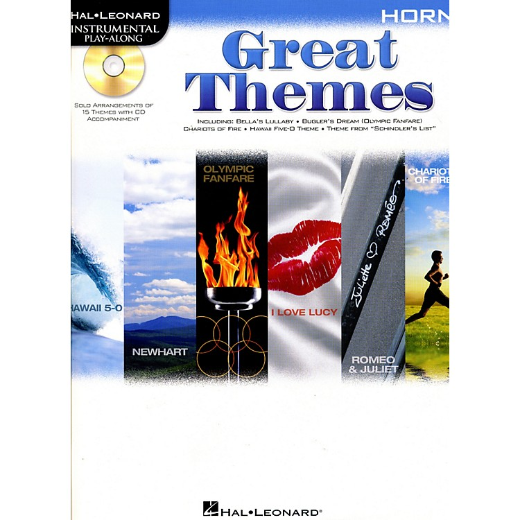 Hal Leonard Great Themes - Instrumental Play-Along Book/CD Horn