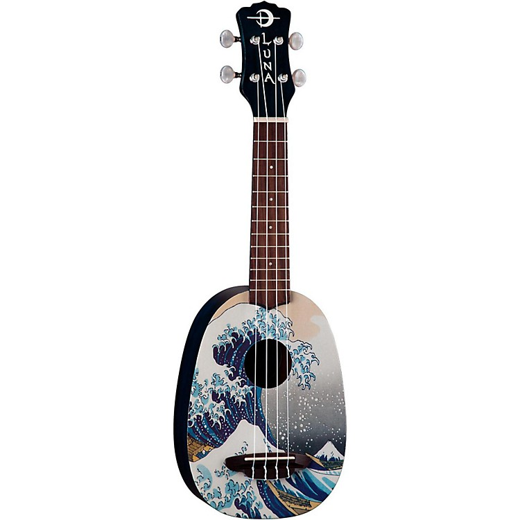 Luna Guitars Great Wave Soprano Ukulele Mahogany with Satin Finish