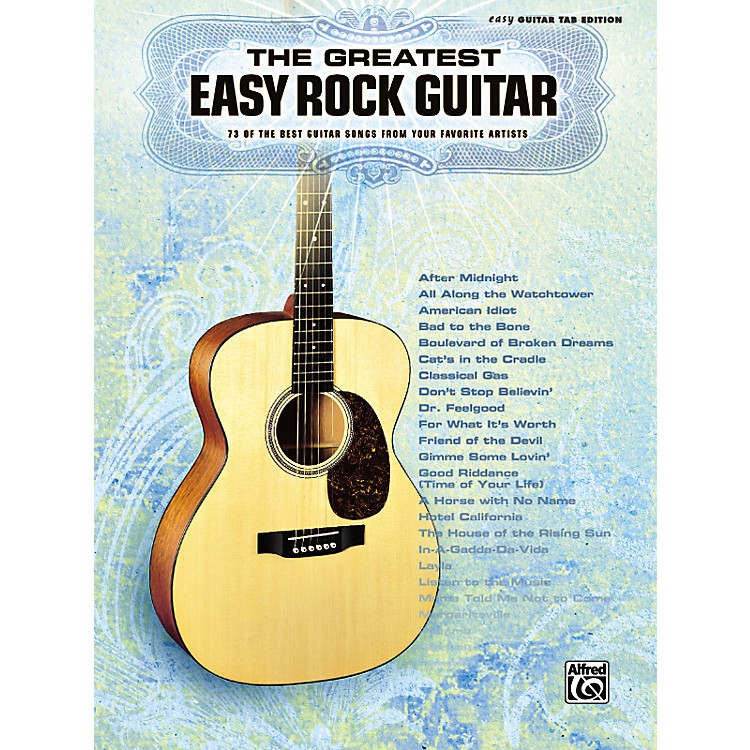 AlfredGreatest Easy Rock Guitar Tab Songbook