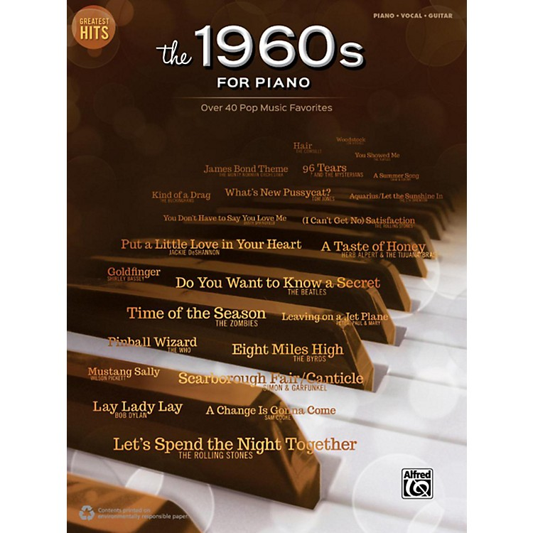 AlfredGreatest Hits: The 1960s for Piano Piano/Vocal/Guitar