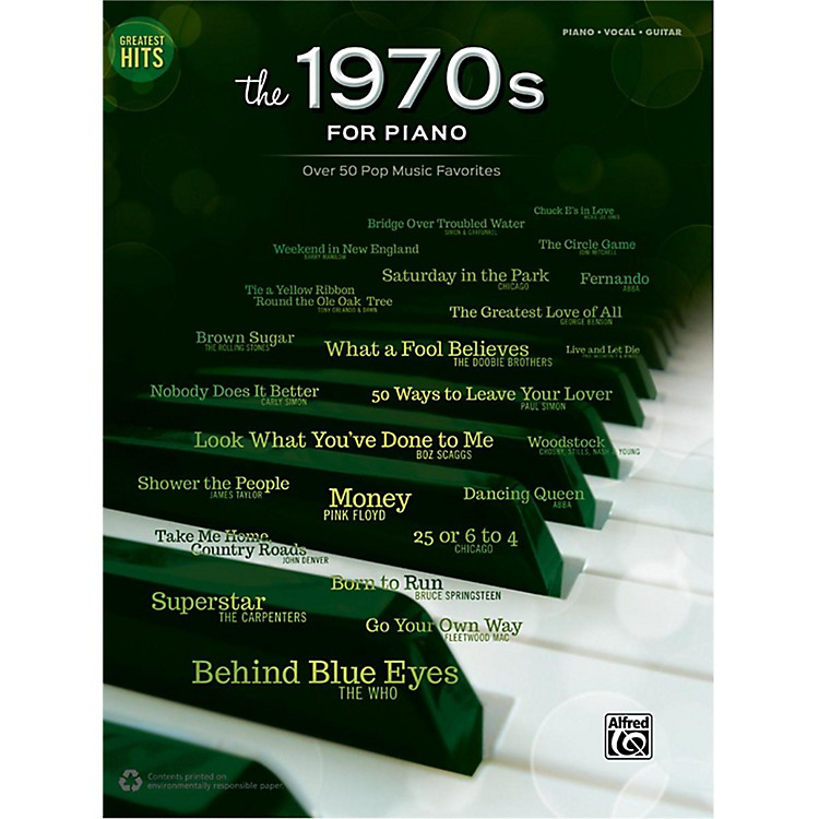 AlfredGreatest Hits: The 1970s for Piano Piano/Vocal/Guitar Songbook