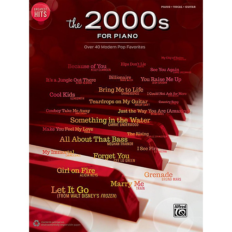 AlfredGreatest Hits: The 2000s for Piano - Piano/Vocal/Guitar Songbook
