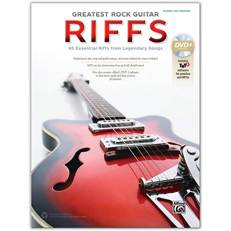 AlfredGreatest Rock Guitar Riffs Guitar TAB Book & DVD-ROM