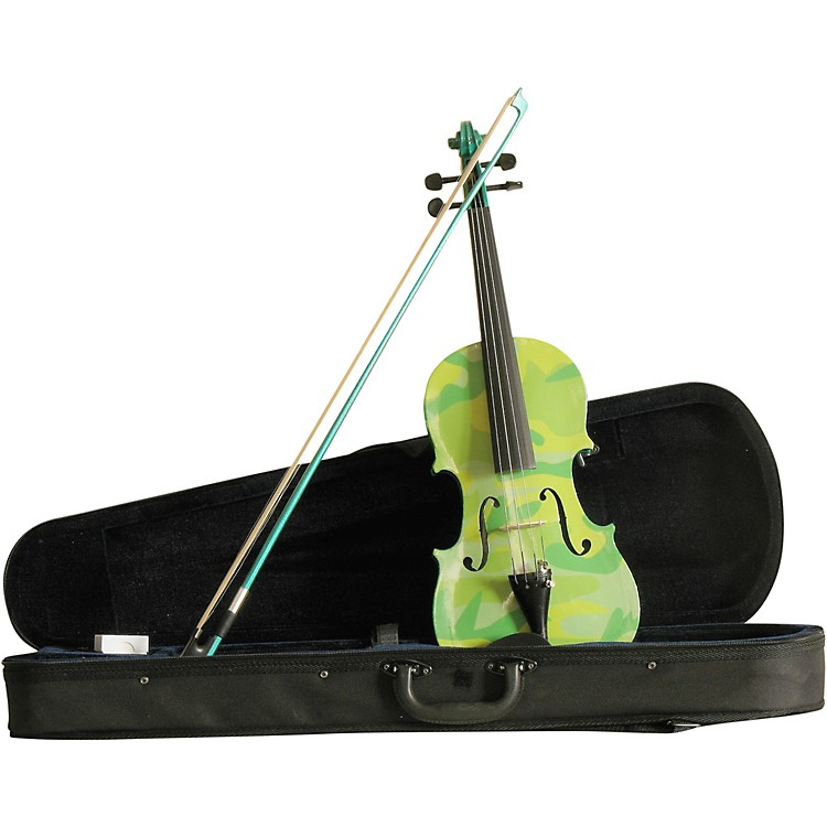 Rozanna's Violins Green Camouflage Series Violin Outfit 4/4