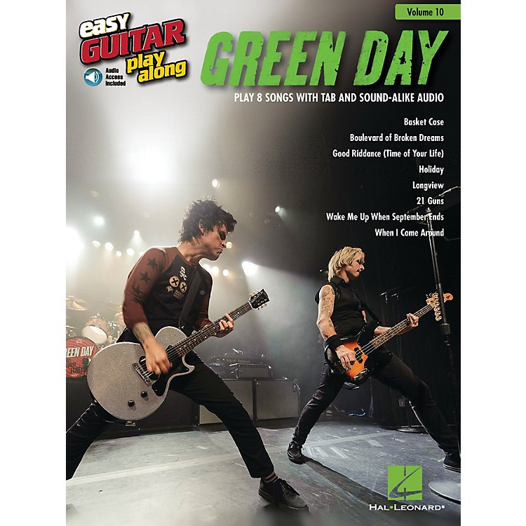 Hal LeonardGreen Day (Easy Guitar Play-Along Volume 10) Easy Guitar Play-Along Series Softcover with CD by Green Day