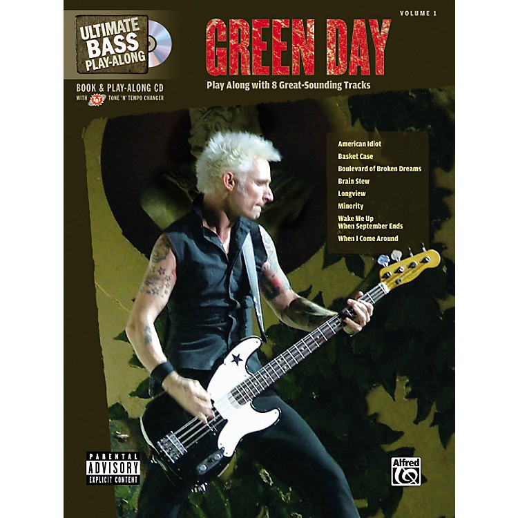 AlfredGreen Day Ultimate Play-Along Bass Guitar Tab Songbook with Enhanced CD