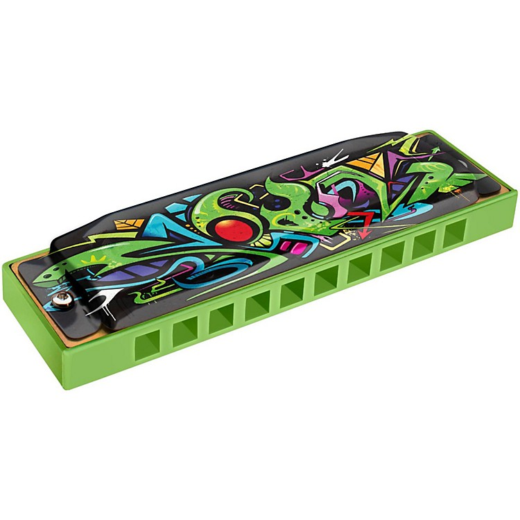 Hohner Green Dragon Tagged Harmonica Key of C