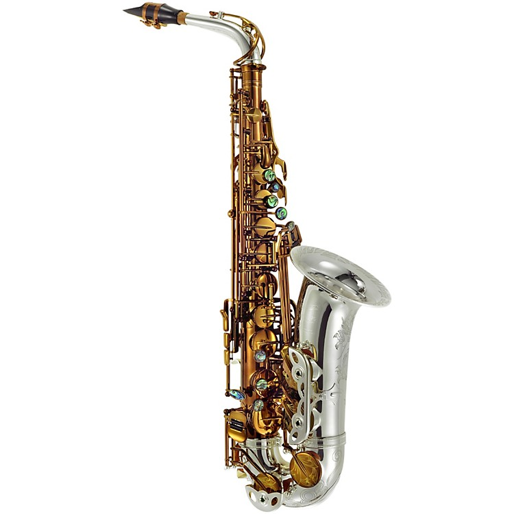 P. Mauriat Greg Osby Signature Series Professional Alto Saxophone Cognac Lacquered body with Silver-Plated Neck and Bell