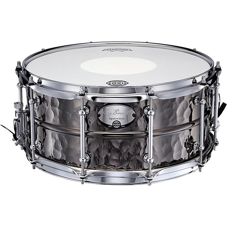 DixonGregg Bissonette Hammered Brass Signature Snare Drum14 x 6.5 in.