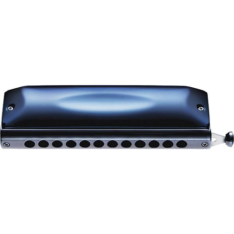 SuzukiGregoire Maret Signature Chromatic Harmonica - Blue Metal Covers