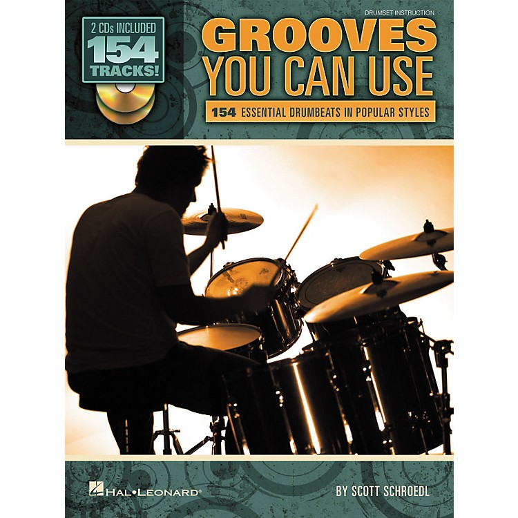Hal LeonardGrooves You Can Use - 154 Essential Drumbeats in Popular Styles (Book/CD)