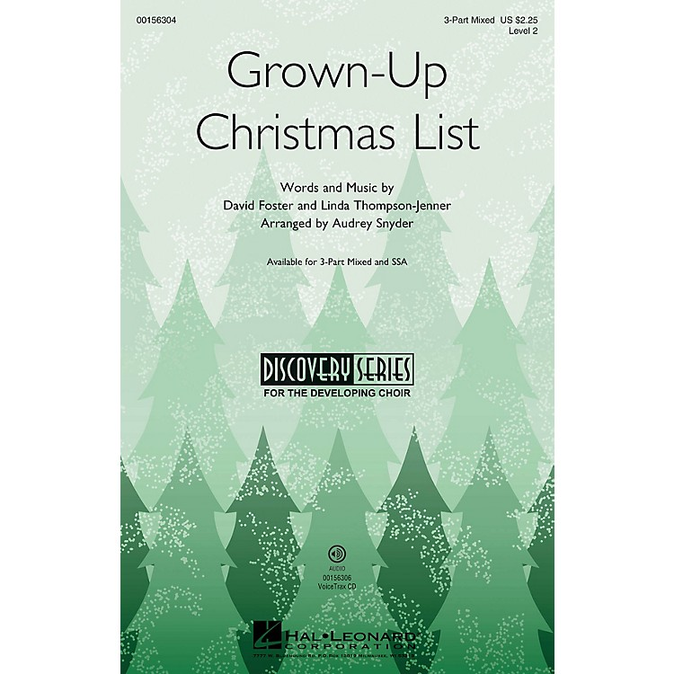 Hal LeonardGrown-Up Christmas List (Discovery Level 2) VoiceTrax CD Arranged by Audrey Snyder