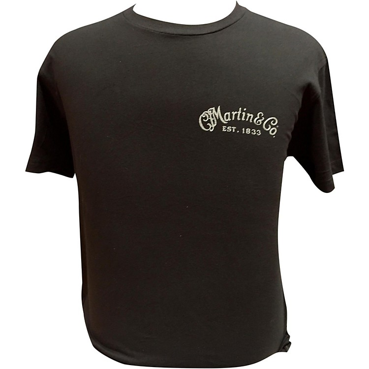 Martin Guitar Body On Back T-Shirt Black Small