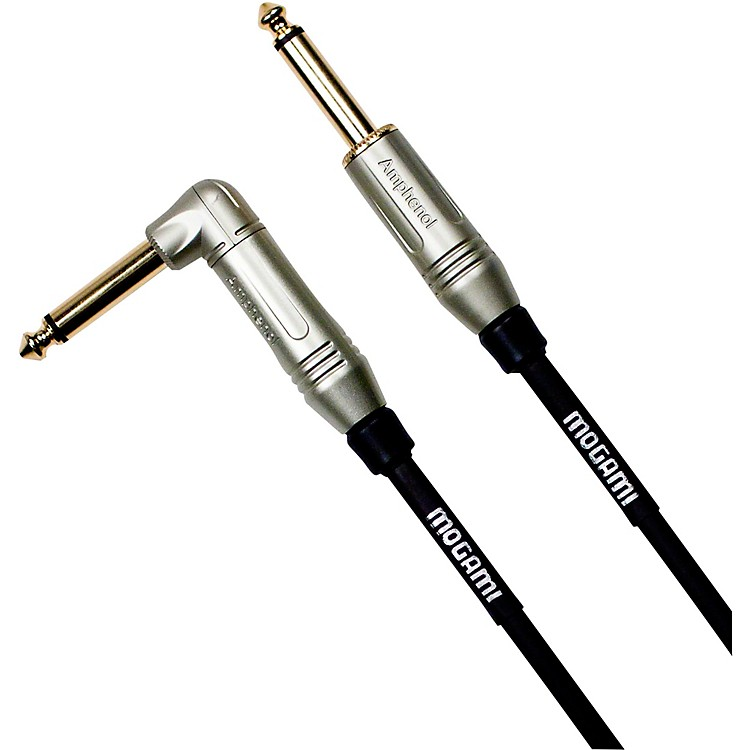 Mogami Silver Series Guitar Cable Straight to Right Angle 18 ft.
