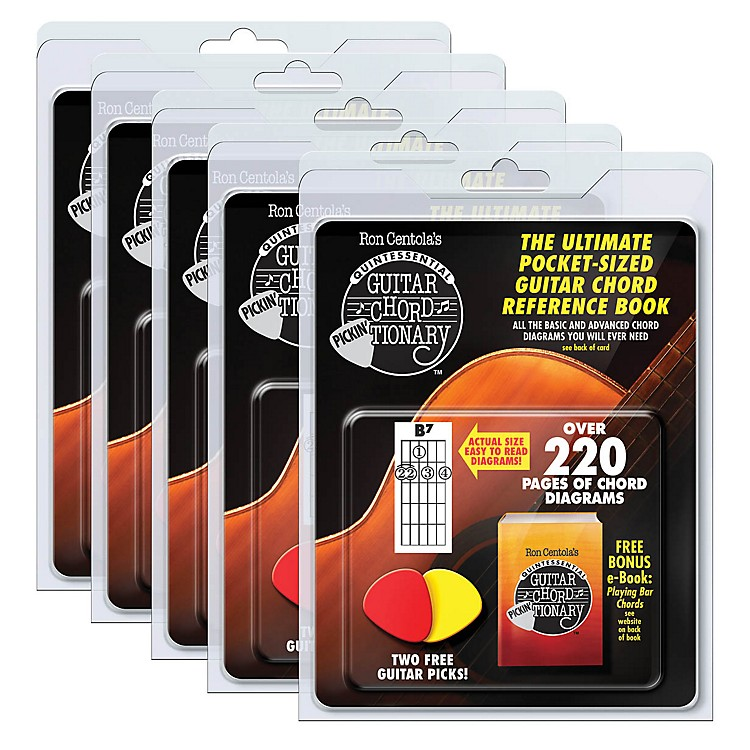 CSIGuitar Chord Pickin'Tionary 5-Pack (Clamshell with 2 Picks and Mini Chord Book) Book Series Softcover