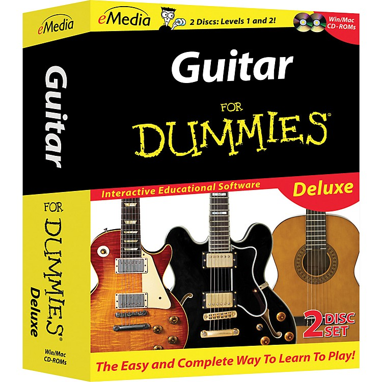 EmediaGuitar For Dummies Deluxe 2-CD-ROM Set