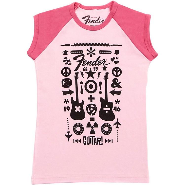 FenderGuitar Formula Youth T-ShirtPink8 YR/L