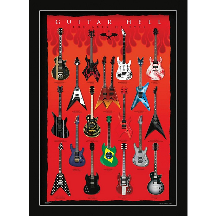 Ace Framing Guitar Hell - Axes Of Hell 24x36 Poster