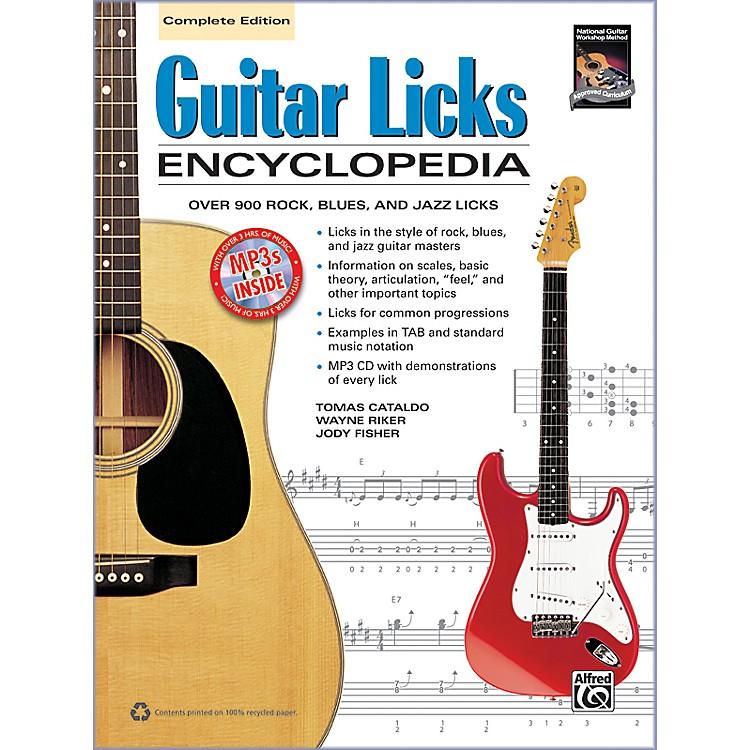 AlfredGuitar Licks Encyclopedia Book & CD