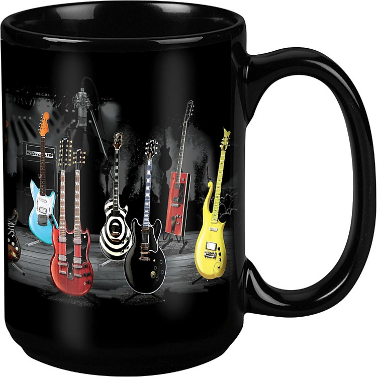 Taboo Guitar Stripe Black Mug 15 oz
