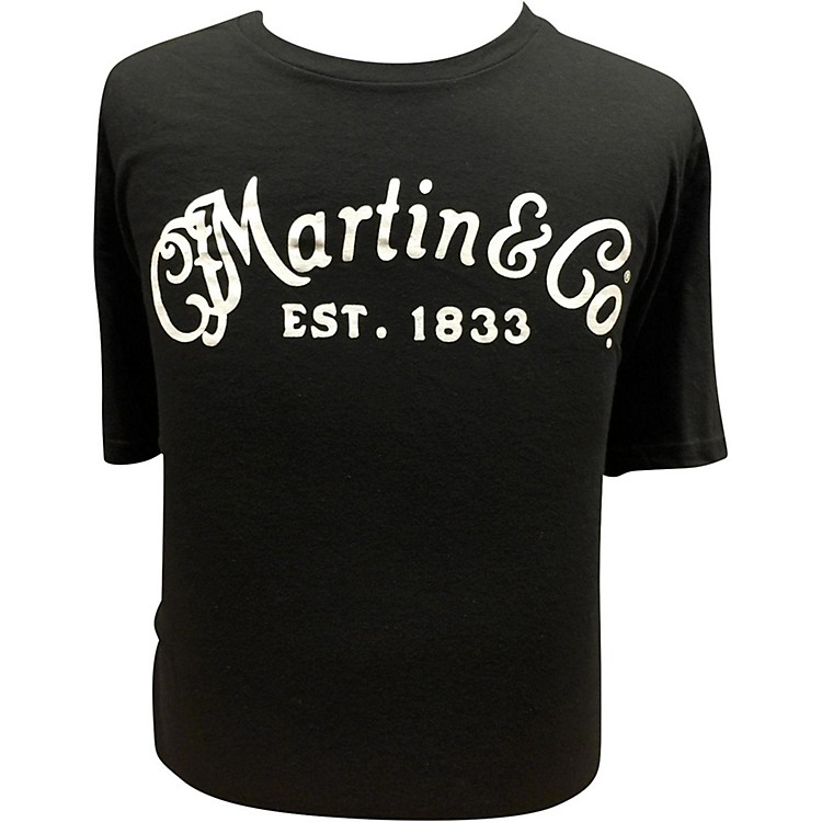 Martin Guitar T-Shirt with White Logo XX Large
