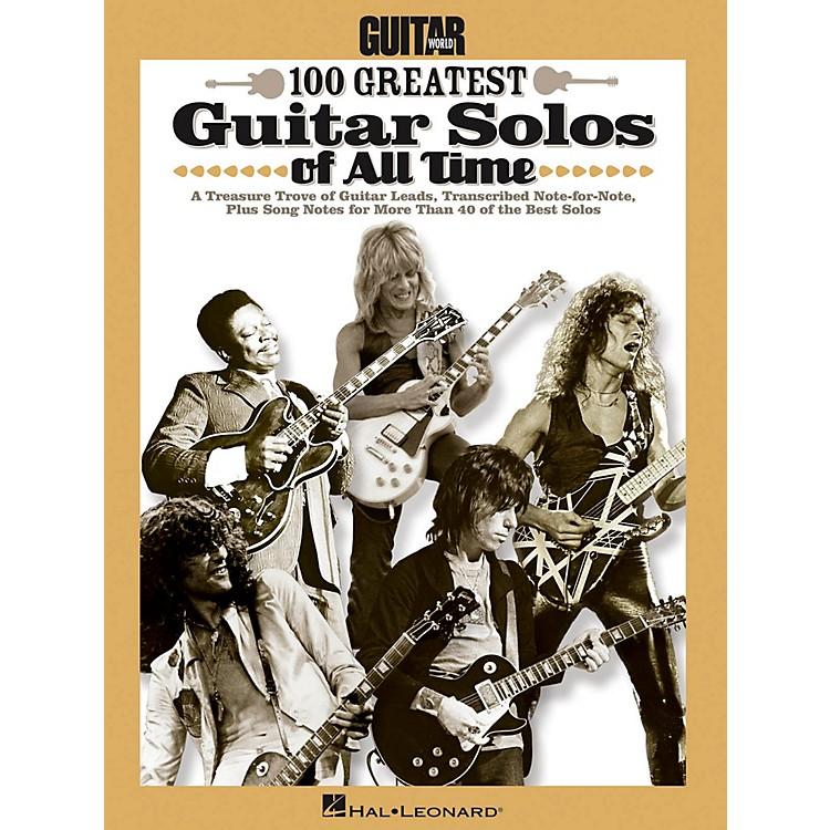 Hal LeonardGuitar World's 100 Greatest Guitar Solos Of All Time