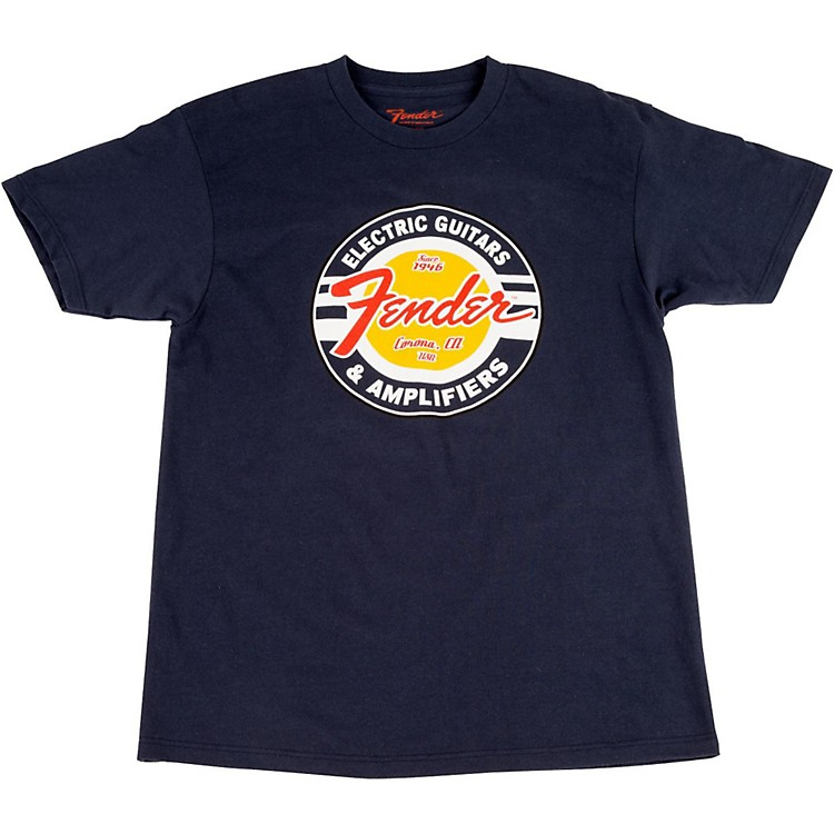 Fender Guitars and Amps Logo T-Shirt Navy X-Large