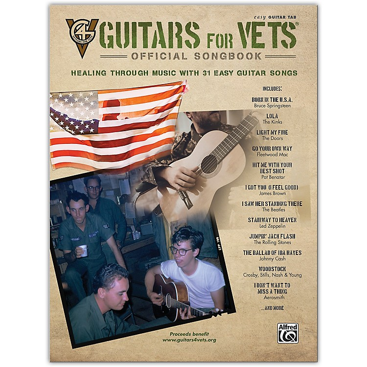 AlfredGuitars for Vets: Official Songbook Easy Guitar TAB