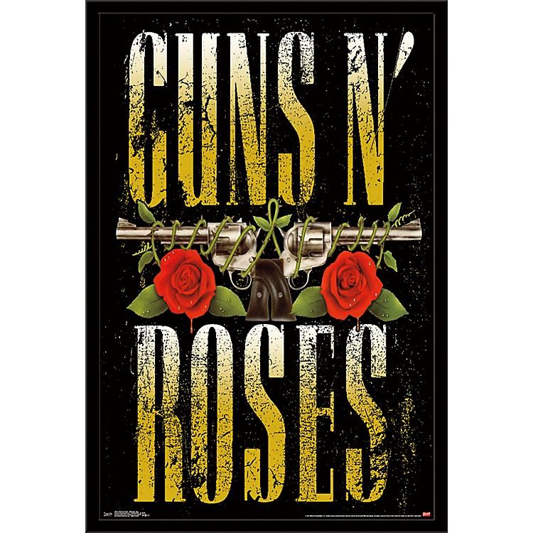 Trends InternationalGuns N Roses - Stacked Logo PosterFramedBlack