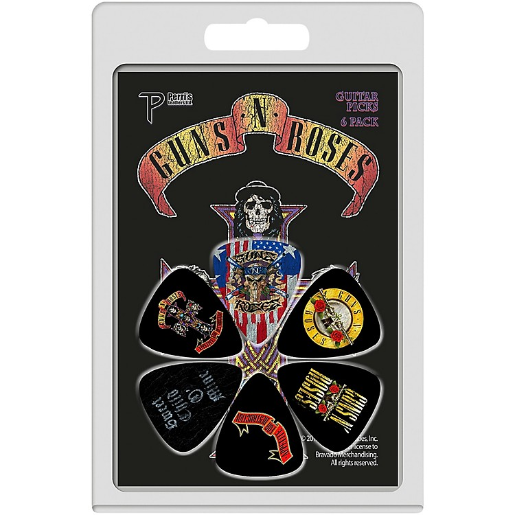 Perri's Guns N Roses Guitar Pick 6-Pack .71 mm 6 Pack