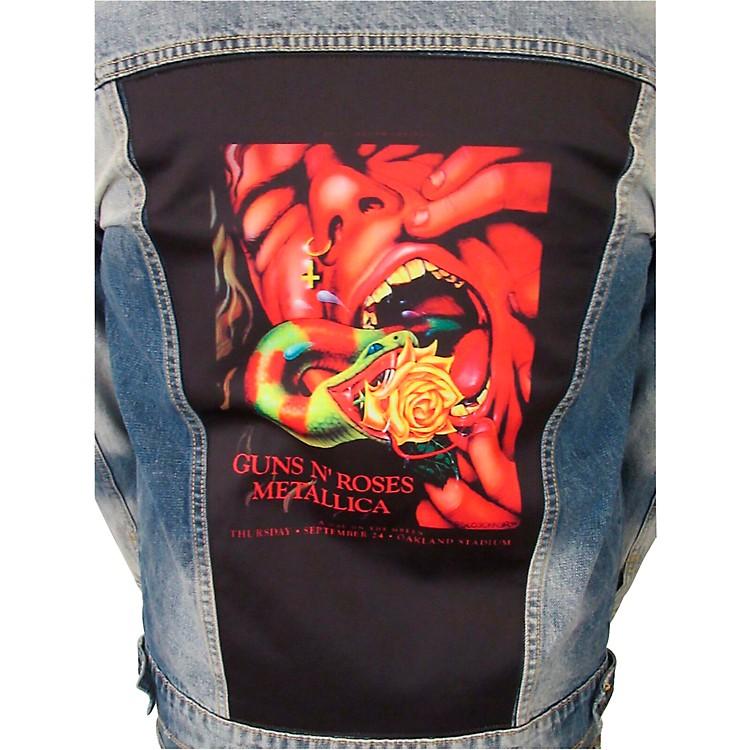Dragonfly ClothingGuns N Roses & Metallica - Serpent Scream Mens Denim JacketMedium