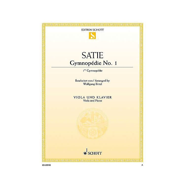 Schott Gymnopédie No. 1 (Viola and Piano) String Series Softcover