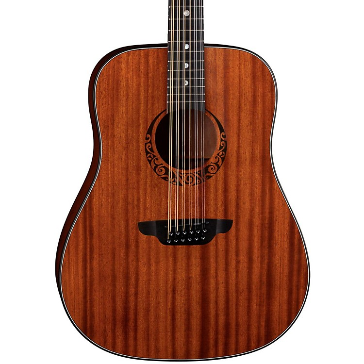 Luna GuitarsGypsy 12-String Dreadnought Mahogany Acoustic GuitarSatin Natural