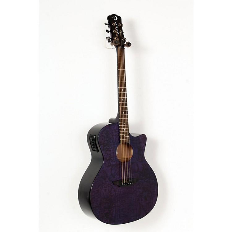 Luna GuitarsGypsy Grand Concert Ash Acoustic-Electric GuitarTransparent Purple888365604619