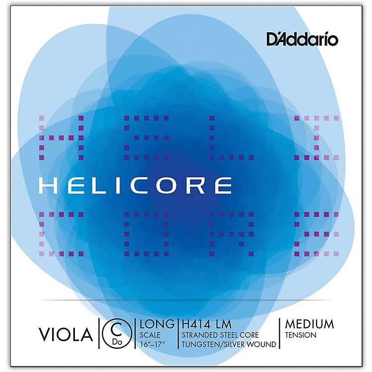 D'Addario H414 Helicore Long Scale Viola C String 16+ Long Scale Medium